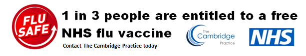 FluSafe - 1 in 3 people are entitled to a free NHS flu vaccine